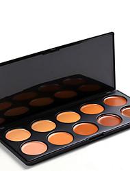 10 Paleta de Sombras Secos Paleta da sombra Pó Pressionado Normal Maquiagem para o Dia A Dia