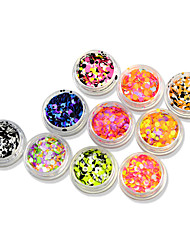 1set 12bottles Nail Art Décoration strass Perles Maquillage cosmétique Nail Art Design