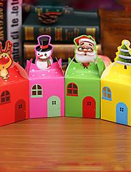 azar del color del ESTILO 80 unids bricolaje de dibujos animados de Navidad ao nuevo Caja de regalo caramelo lindo cajas de tomates