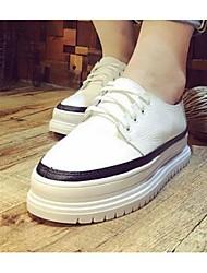 Homme-Décontracté-Noir / BlancConfort-Sneakers-Cuir