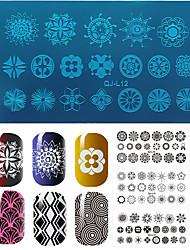 1pcs Classic Geometric Shape Of Rectangular Nail Plate Printing Template