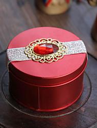 Коробки для бижутерии Нержавеющая сталь 1шт Бежево-коричневый 7.5*4.5