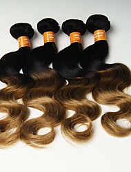 4 Pièces Ondulation naturelle Tissages de cheveux humains Cheveux Malaisiens 0.4kg 8-30 inch Extensions de cheveux humains