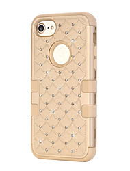 For iPhone 7 Plus 7 Shining Bling Dual Layer Defender Case Silicone Hard Plastic 3 in 1 Shockproof Phone Cover iPhone 6s Plus 6s 6 SE 5s 5 5c