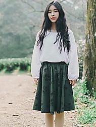 Women's Pencil Color Block Skirts,Beach Low Rise Midi Elasticity Cotton Micro-elastic Summer