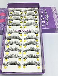 Cílios Cílios Tiras Completas de Cílios Olhos Colorido Pestanas Levantadas Confeccionada à Mão Fibra Others 0.10mm 12mm