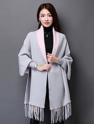 Women Cotton Scarf,Casual RectangleSolid