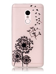 For Xiaomi Redmi Note 4 Pro Glow in the Dark Translucent Case Back Cover Case Dandelion Soft TPU
