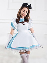 One-Piece/Dress Sweet Lolita Lolita Cosplay Lolita Dress Patchwork Short Sleeve Medium Length Dress For Cotton
