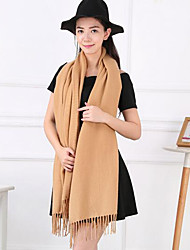 Unisex Faux Fur Scarf,Casual RectangleSolid