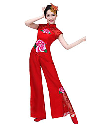 Party Costume Cosplay Festival/Holiday Halloween Costumes Red Solid Top / Pants Female Polyester