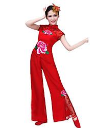 Ropa de Fiesta Cosplay Festival/Celebración Traje de Halloween Rojo Un Color Top / Pantalones Mujer Poliéster