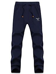 Hommes Droite Chino Pantalon,simple Soirée / Cocktail Couleur Pleine Taille Normale Cordon Coton Micro-élastique Sangle