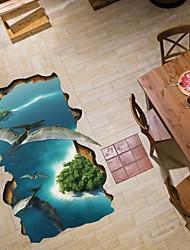 Animais / Paisagem Wall Stickers Autocolantes 3D para Parede Autocolantes de Parede Decorativos,PVC Material Lavável Decoração para casa
