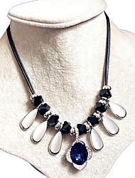 Femme Col Colliers Déclaration Aigue-marine Forme de Fleur Gemme Opale A Fleurs Bijoux de déclaration Bleu royal Bijoux PourMariage