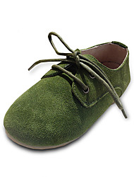 Boy's and Girl's Spring / Fall / Winter Fashion Comfort Leather/Suede Outdoor / Casual Flat Heel Lace-up Loafers