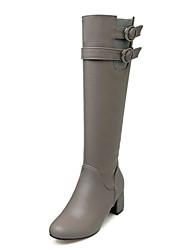 Women's Boots Spring Fall Winter Platform Comfort Customized Materials Leatherette Wedding Dress Casual Chunky Heel ZipperBlack Yellow