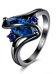 Women's Ring Crystal AAA Cubic Zirconia Luxury Steel Jewelry For Party Halloween Daily