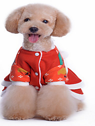 Dog Sweater Red Dog Clothes Winter Solid Christmas