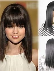 Onda cor natural do cabelo resistente ao calor quente atacado preço selena gomez perucas de cabelo sintético com gap livre