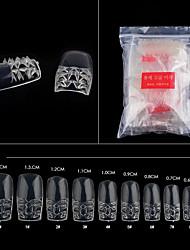 500pcs Nude False Nail Art Tips French Acrylic UV Salon Nail Art Tools