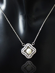 Necklace Pendant Necklaces Jewelry Wedding / Party Dangling Style / Pendant Alloy / Zircon Women 1pc Gift Silver