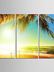 Canvas Set Abstract / Landscape Modern / Mediterranean,Three Panels Canvas Vertical Print Wall Decor For Home Decoration