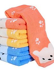 6pcs haute qualité serviette de visage de coton doigt serviette drap de bain
