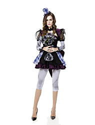 Fête / Célébration Déguisement Halloween Noir & bleu Couleur Pleine Jupe / Pantalon / Châle / Chapeau Halloween / Noël / Carnaval Féminin