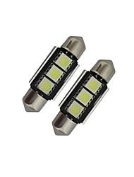 Festoon Декоративное освещение 3 SMD 5050 60-70lm lm Холодный белый DC 12 V 2 шт.
