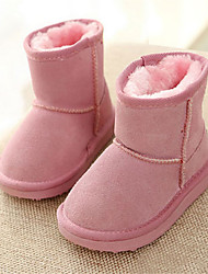 Girls' Boots Comfort Suede Winter Casual Snow Boots Flat Heel Purple Blushing Pink Flat