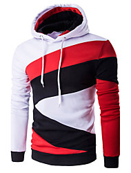 Men's Casual/Daily Active Regular HoodiesSolid/ / Polyester Spring / Fall Hot Sale Brand Fashion High Quality