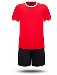 Men's Kid's Soccer Shirt+Shorts Clothing Sets/Suits Waterproof Breathable Thermal / Warm Quick Dry Windproof Front ZipperSpring