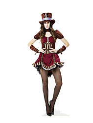 Festival/Holiday Halloween Costumes Wine Red Solid Skirt / Gloves / Belt / Hats Halloween / Christmas / Carnival Female
