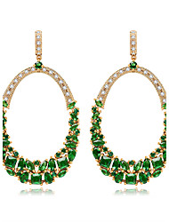 Earring Drop Earrings Jewelry Women Halloween / Wedding / Party Zircon 1 pair As Per Picture