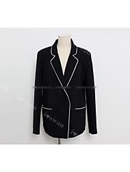 South Korea Shopping 2016 autumn new bow lace stitching Slim suit jacket female tide