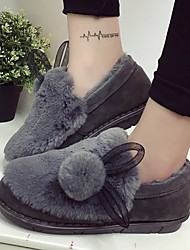 Women's Boots Winter Comfort Fur Casual Black Green Gray