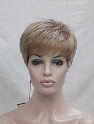 High Quality Synthetic Small Monofilament Top  Lightweight Light Strawberry Blonde Mix Blonde Women's Short Wig
