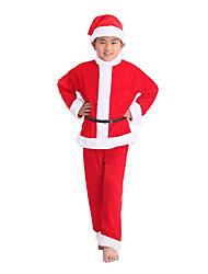 Costumes de Cosplay Costumes de père noël Fête / Célébration Déguisement Halloween Rouge Couleur Pleine Haut / Jupe / Pantalon Noël