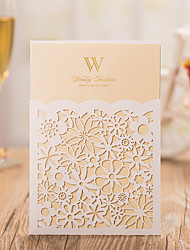 Folded Wedding Invitations 50-Invitation Cards Pearl Paper