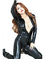 Cosplay Costumes Cosplay Movie Cosplay Black Solid Leotard/Onesie Halloween / Carnival Female Spandex Lycra