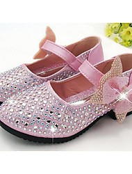 Girl's Flats Comfort PU Casual Blue Pink Silver Gold
