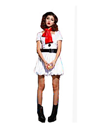 Christmas Costume/Holiday Halloween Costumes White Solid Dress / Belt / Hats / Tie Christmas Female Polyester