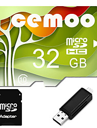 CEMOO Original Nature Series 32GB Micro SD card Class 10  with SD SDHC Adapter and Multi-function OTG USB Card Reader