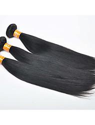 3 Piezas Recto Cabello humano teje Cabello Hindú 0.3kg 8-30 inch Extensiones de cabello humano