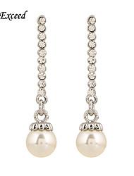 Brand New Arrival Vintage Elegant Crystal Imitation Pearl Drop Earring For Ladies ER140529