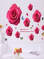 Floral Stickers muraux Stickers avion Stickers muraux décoratifs,Vinyle Matériel Décoration d'intérieur Wall Decal