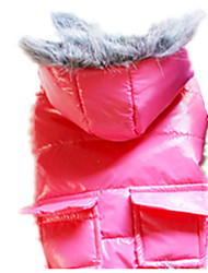 Dog Coat Red / Blue / Pink / Gray Dog Clothes Winter / Spring/Fall Solid Keep Warm