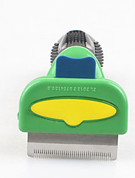 Cat / Dog Grooming / Health Care / Cleaning Comb / Brush Pet Grooming Supplies Casual/Daily Green Stainless Steel