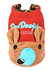 Dog Costume / Sweatshirt Red Dog Clothes Winter / Spring/Fall Animal Cute / Casual/Daily / Keep Warm